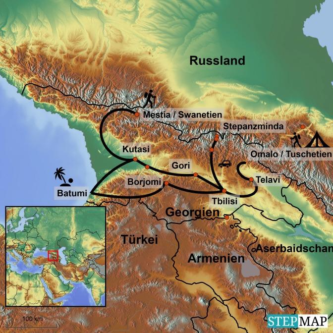 StepMap-Karte-Georgien